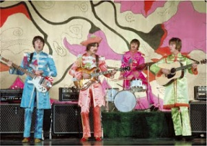 Beatles in Pepper gear