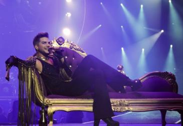 Image result for queen 2014 tour adam lambert couch