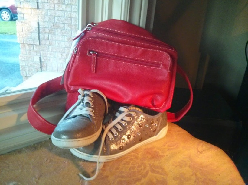 Red purse and shoes
