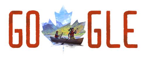 Google logo, Canada Day