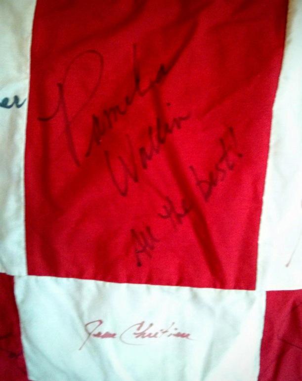 Pamela Wallin and Jean Chretien signatures