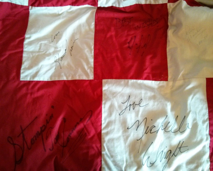 Shania Twain, Stompin Tom, and Michelle Wright signatures