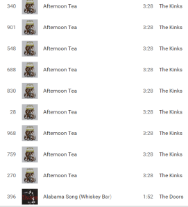Duplicate songs screenshot