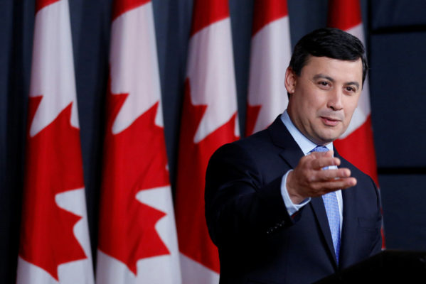 Conservative MP Chong speaks during a news conference in Ottawa