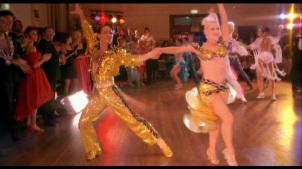 Shiny ballroom dancing