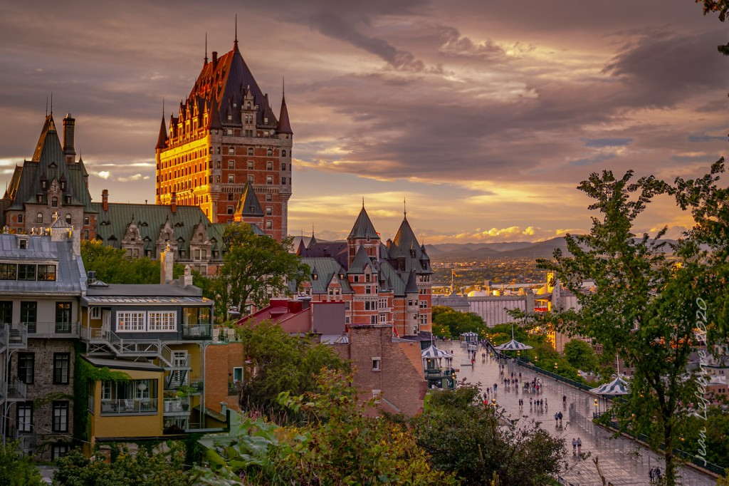 View of Quebec City, with Chateau Frontenac