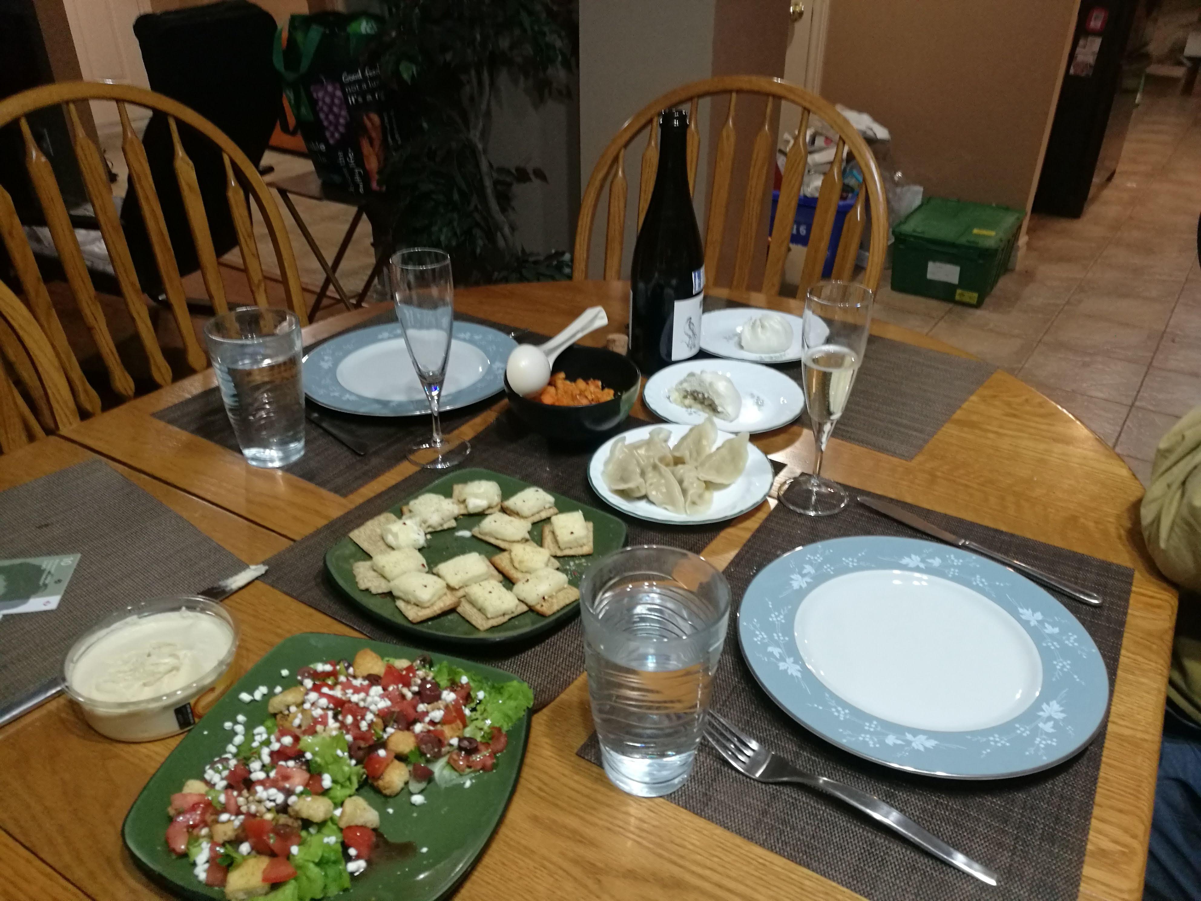 Christmas Eve appetizer dinner