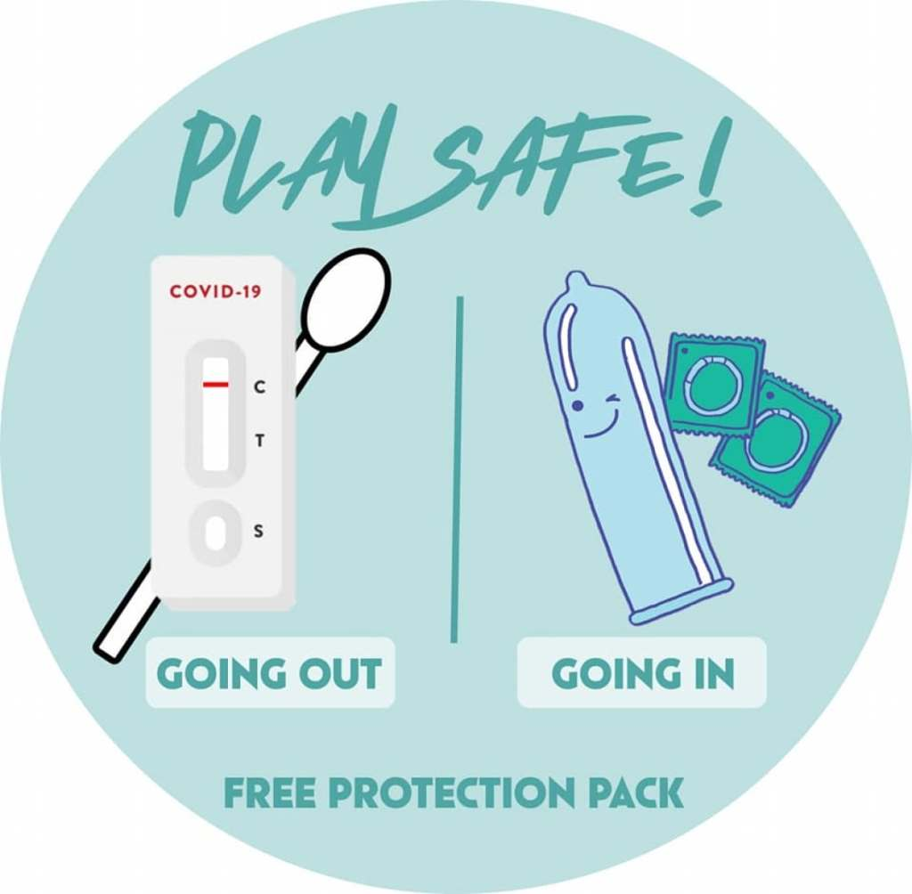 Play safe going out (rapid tests) and going in (condoms)